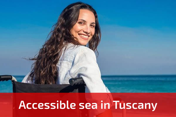Accessible sea in Tuscany